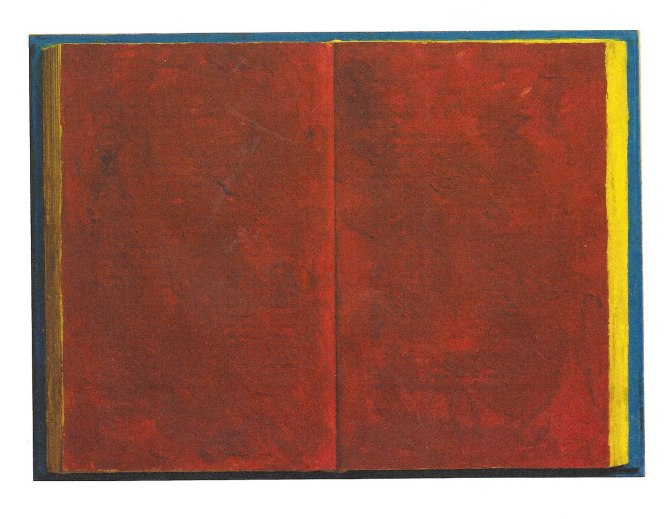 Jasper Johns, Book 1957, Encaustic on book and wood