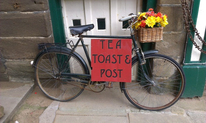 Tea, Toast and Post, Robin Hood's Bay Heritage Village, 54.4345°N 0.5344°W, Nr.Whitby and within North Yorkshire National Park, © Denise Startin